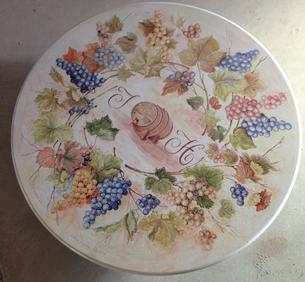 Table décorée raisins